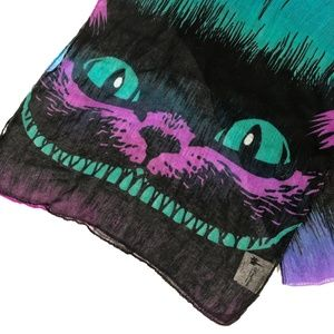 Disney Sheer Cheshire Cat Print Scarf Alice AIWL